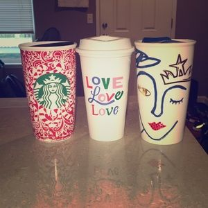 Starbucks travel mug bundle